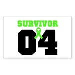 Lymphoma Survivor 4 Years Rectangle Sticker 50 pk