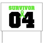 Lymphoma Survivor 4 Years Yard Sign