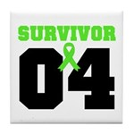 Lymphoma Survivor 4 Years Tile Coaster