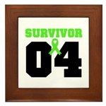 Lymphoma Survivor 4 Years Framed Tile
