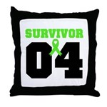 Lymphoma Survivor 4 Years Throw Pillow
