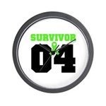 Lymphoma Survivor 4 Years Wall Clock