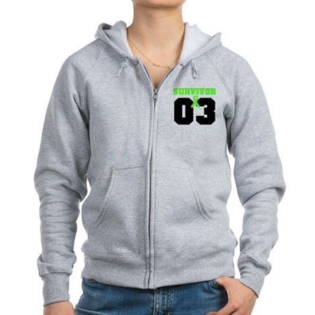 Lymphoma Survivor 3 Years Women's Zip Hoodie