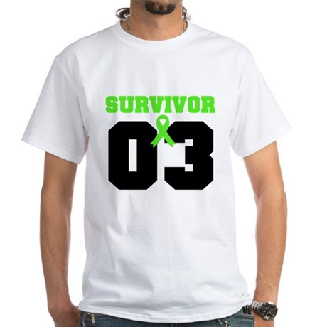 Lymphoma Survivor 3 Years White T-Shirt