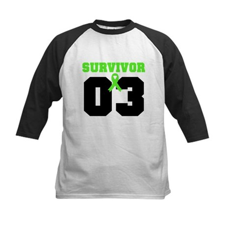Lymphoma Survivor 3 Years Kids Baseball Jersey