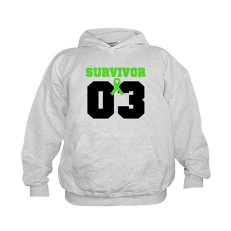 Lymphoma Survivor 3 Years Kids Hoodie