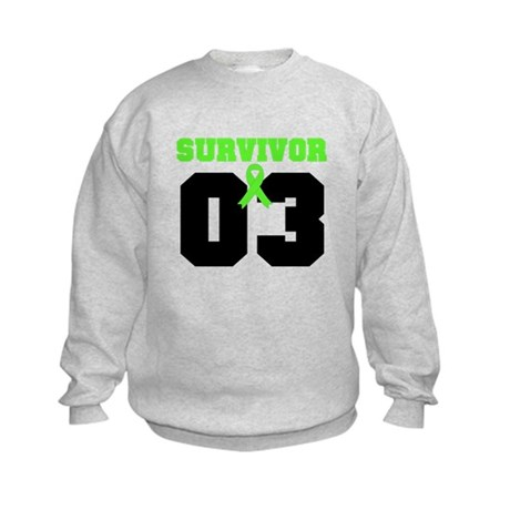 Lymphoma Survivor 3 Years Kids Sweatshirt