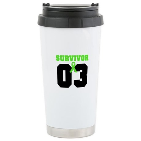 Lymphoma Survivor 3 Years Ceramic Travel Mug