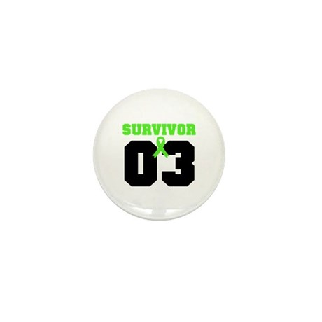 Lymphoma Survivor 3 Years Mini Button