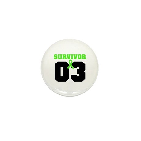 Lymphoma Survivor 3 Years Mini Button (10 pack)
