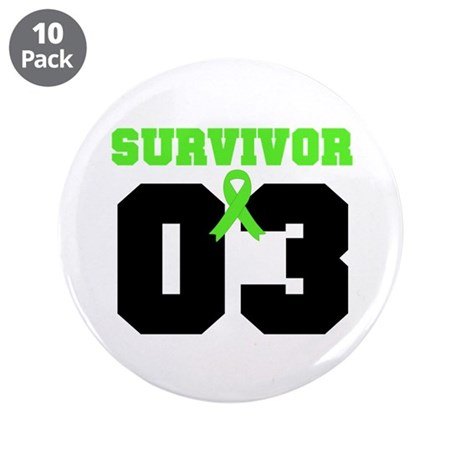 "Lymphoma Survivor 3 Years 3.5"" Button (10 pack)"