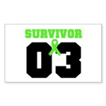 Lymphoma Survivor 3 Years Rectangle Sticker 50 pk
