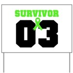 Lymphoma Survivor 3 Years Yard Sign