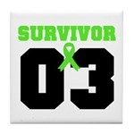 Lymphoma Survivor 3 Years Tile Coaster