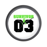 Lymphoma Survivor 3 Years Wall Clock
