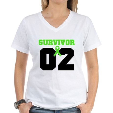 Lymphoma Survivor 2 Years Women's V-Neck T-Shirt