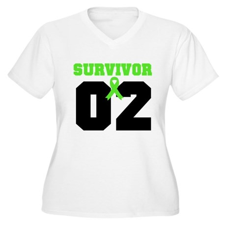 Lymphoma Survivor 2 Years Women's Plus Size V-Neck
