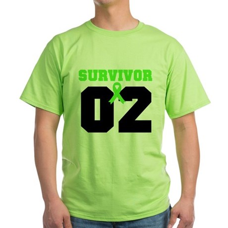 Lymphoma Survivor 2 Years Green T-Shirt