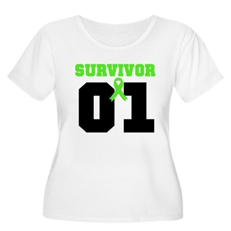 Lymphoma Survivor 1 Years Women's Plus Size Scoop