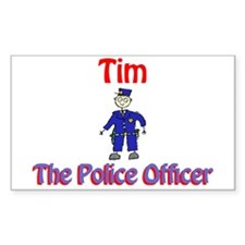 Tim - Police Officer Rectangle Decal