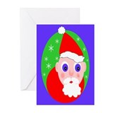 Santa Cartoon Greeting Cards (Pk of 10)