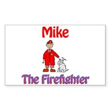 Mike - Firefighter Rectangle Decal