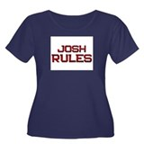 josh rules Women's Plus Size Scoop Neck Dark T-Shi