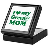 I love my green mom Keepsake Box