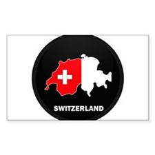 Flag Map of Switzerland Rectangle Decal