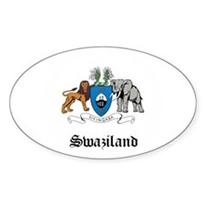 Swazi Coat of Arms Seal Oval Decal