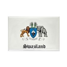 Swazi Coat of Arms Seal Rectangle Magnet