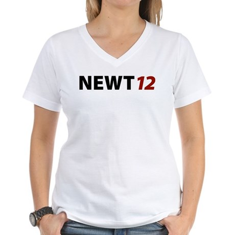 Newt '12 Women's V-Neck T-Shirt