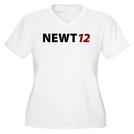 Newt '12 Women's Plus Size V-Neck T-Shirt