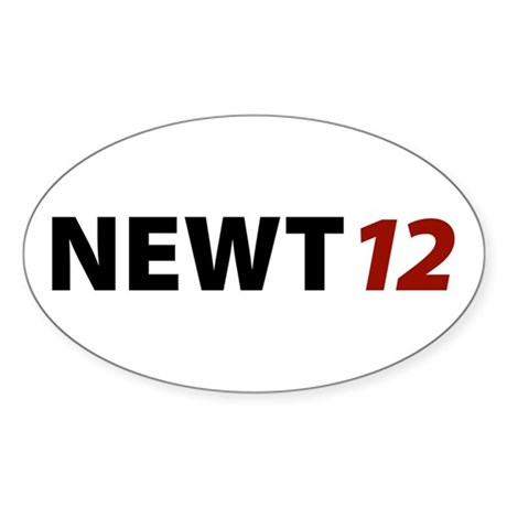 Newt '12 Oval Sticker