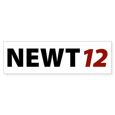 Newt '12 Bumper Sticker