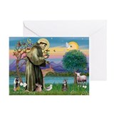 St Francis / Tab Tiger Cat Greeting Card