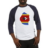 swaziland Flag Map Baseball Jersey