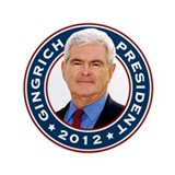 "Newt Gingrich for President 3.5"" Button"