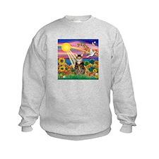 Autumn Sun / Tab Tiger Cat Sweatshirt