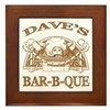 Dave's Personalized Name Vintage BBQ Framed Tile