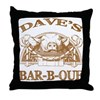 Dave's Personalized Name Vintage BBQ Throw Pillow