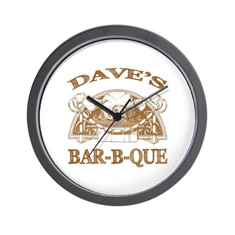 Dave's Personalized Name Vintage BBQ Wall Clock