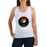 Flag Map of sudan Women's Tank Top