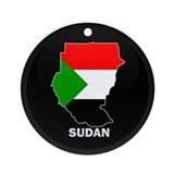 Flag Map of sudan Ornament (Round)