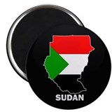 Flag Map of sudan Magnet