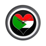 I love sudan Flag Wall Clock