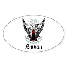 Sudanese Coat of Arms Seal Oval Decal