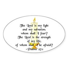 """""""The Lord is my light..."""" Oval Decal"""