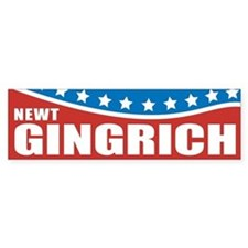 Gingrich Patriotic Bumper Car Sticker