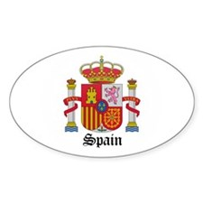 Spaniard Coat of Arms Seal Oval Sticker (10 pk)
